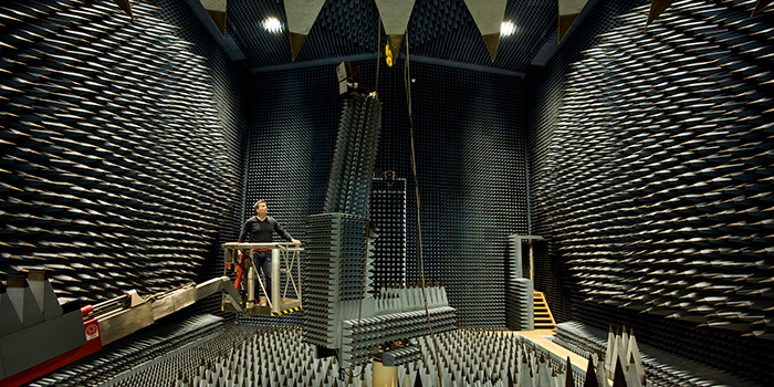 The Radio Anechoic Chamber (Photo: Torben Nielsen)