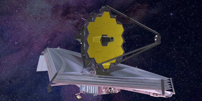 (James Webb-teleskopet, JWST. Illustration NASA)