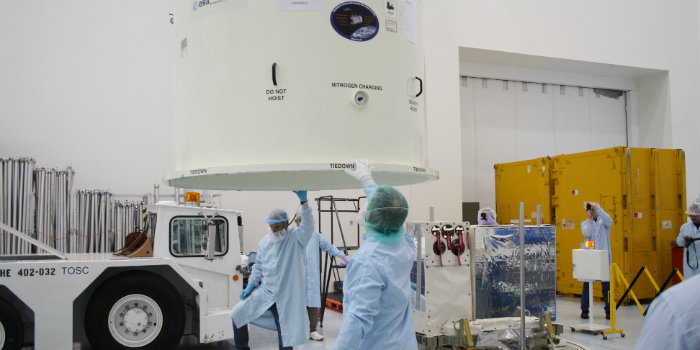 ASIM-mission ready for launch at Kennedy Space Center, Florida 2018. (ESA/ DTU Space/Terma).
