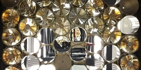 NICERs mount for its 56 mirror units seen from inside the instrument