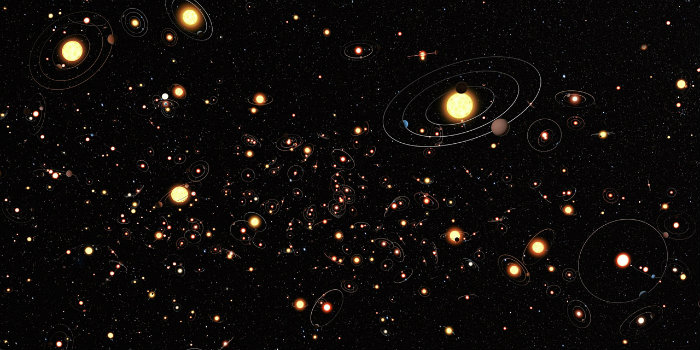After detecting the first exoplanets in the 1990s it has become clear that planets around other stars are the rule rather than the exception and there are likely hundreds of billions of exoplanets in the Milky Way alone. The search for these planets is now a large field of astronomy. (Illustration: ESA/Hubble/ESO/M. Kornmesser)