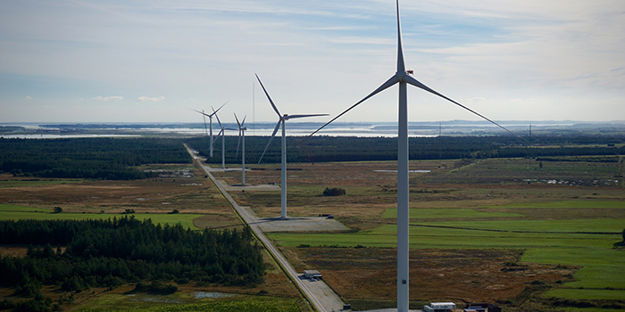 The wind turbines in Østerild